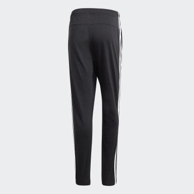 Pantalón Essentials Tapered Open Hem 3 Rayas Negro Hombre Athletics