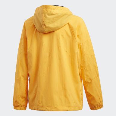 เด็กผู้ชาย ไลฟ์สไตล์ สีเหลือง เสื้อแจ็คเก็ต adidas W.N.D. Primeblue