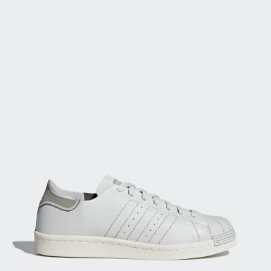Tenis Superstar 80s Decon Gris Mujer Originals