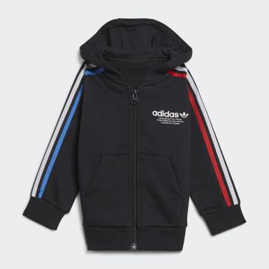 Bebek Originals Siyah Adicolor Full-Zip Eşofman Takımı