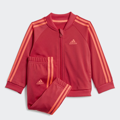 Tuta 3-Stripes Tricot Rosa Bambini Athletics