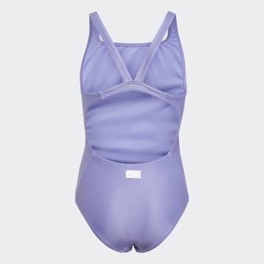 Kids 4-8 Years Swimming Purple Frozen 2 Swimsuit