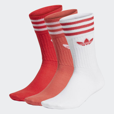 Originals Red Crew Socks 3 Pairs