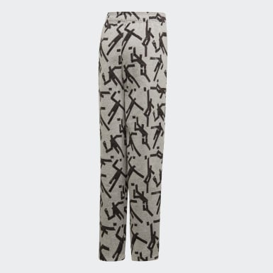 Youth 8-16 Years Training Grey Sport ID Graphic Joggers
