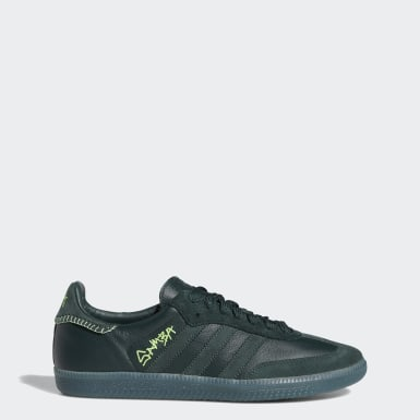 Men Originals Green Jonah Hill Samba Shoes