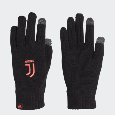 Football Black Juventus Gloves