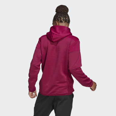 Men Athletics Burgundy adidas Z.N.E. COLD.RDY Hoodie Sweatshirt