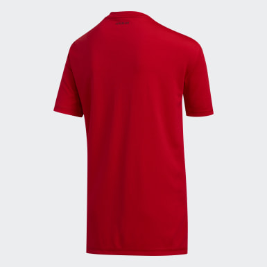 T-shirt Speed Lines Badge of Sport rouge Adolescents Entraînement