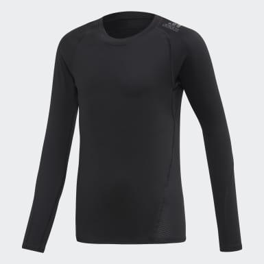 Boys Yoga Black Alphaskin Sport Long-Sleeve Top