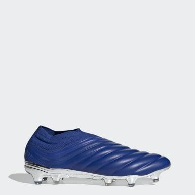 Bota de fútbol Copa 20+ césped natural seco Azul Fútbol