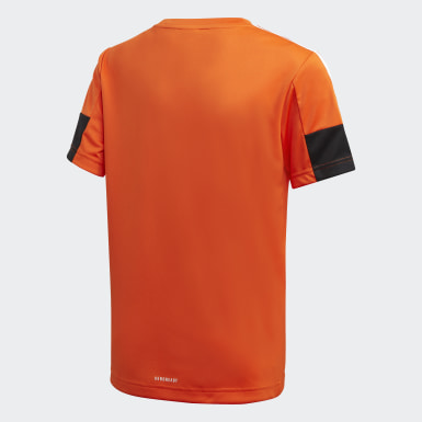 Jungen Training Must Haves AEROREADY 3-Streifen T-Shirt Orange