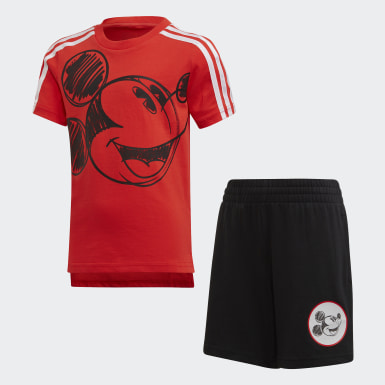 Conjunto de Verano Mickey Mouse Burgundy Niño Training