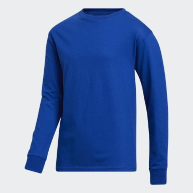 Youth Training Blue Y LS AMPLIFIER TEE - LICENSED