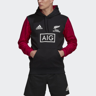 Men Rugby Black Māori All Blacks Graphic Hoodie