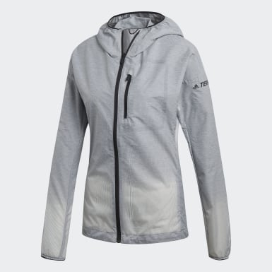 Women TERREX Grey Terrex Agravic Windweave Windbreaker