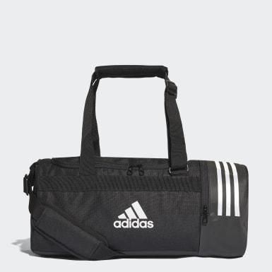 เทรนนิง สีดำ กระเป๋าดัฟเฟิล 3-Stripes ขนาดเล็ก ปรับเป็นกระเป๋าสะพายหลังได้