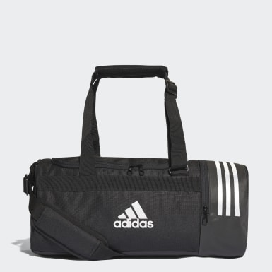 Field Hockey Black Convertible 3-Stripes Duffel Bag Small