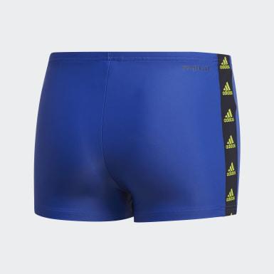 Jongens Zwemmen Blauw Tape Zwembroek