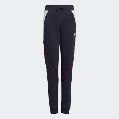 Girls Training Blue Bold Tapered Leg Pants