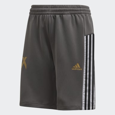 Youth 8-16 Years Training Grey Football-Inspired X AEROREADY Shorts