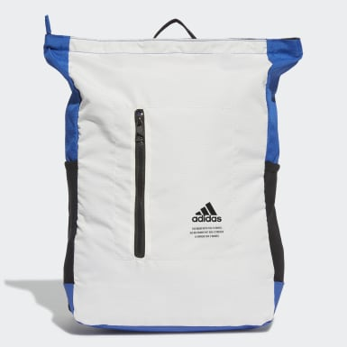 Training White Classic Top-Zip Backpack
