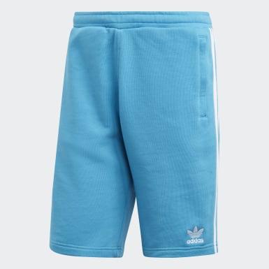 Shorts 3 Franjas Turquesa Hombre Originals