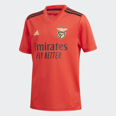 Børn Fodbold Rød Benfica hjemmebanetrøje