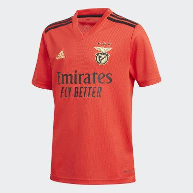 Camiseta primera equipación Benfica Rojo Niño Fútbol