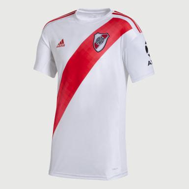 Camiseta Titular River Plate sin Sponsor Blanco Hombre Fútbol