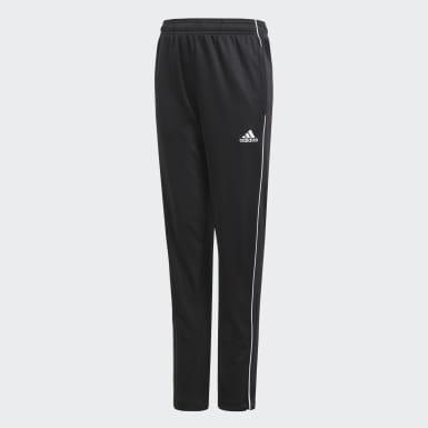 Pants de Entrenamiento Core 18 (UNISEX) Negro Niño Fútbol