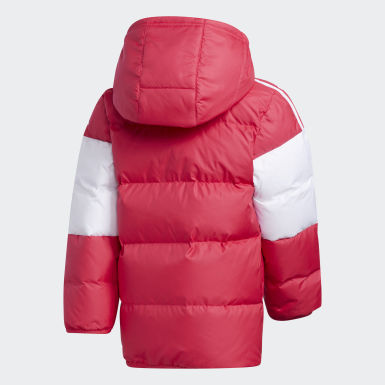 Girls Training Pink Down Jacket