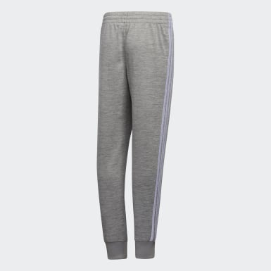 Youth Training Grey Core 3-Stripes Pants