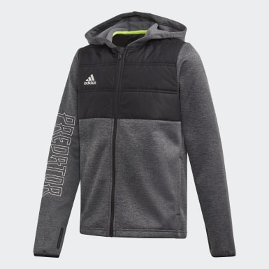 Youth Training Black Padded Hoodie