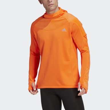Sweat-shirt à capuche Own the Run Warm Orange Hommes Running