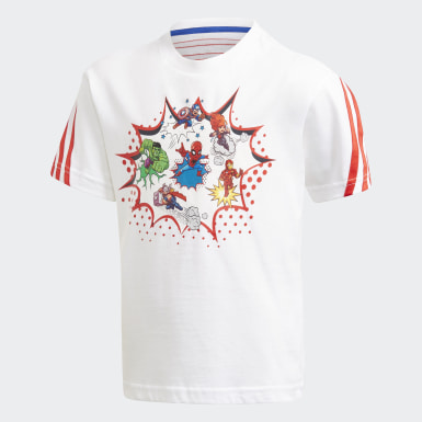 Boys Träning Vit Superhero Adventures Tee