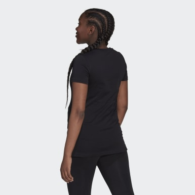 Dam Athletics Svart Essentials Cotton Tee (Maternity)