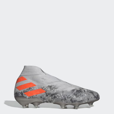 Soccer Grey Nemeziz 19+ Firm Ground Cleats