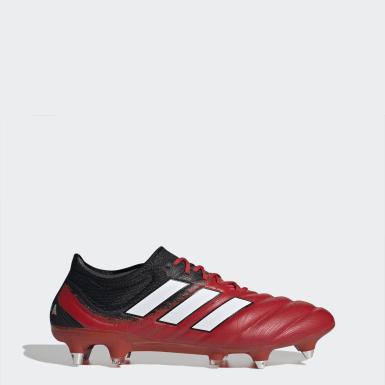 Zapatos de Fútbol Copa 20.1 Terreno Suave Rojo Hombre Fútbol