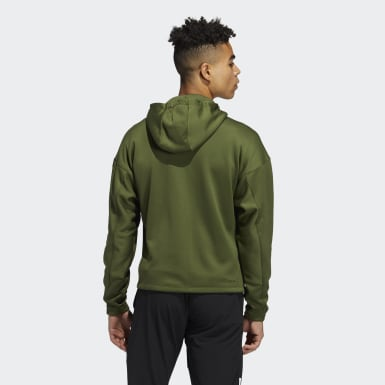 Men Training Green Studio Tech Full-Zip Hoodie