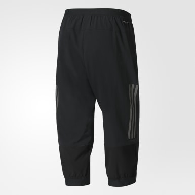 Men Training Black Climacool Three-Quarter Workout Pants