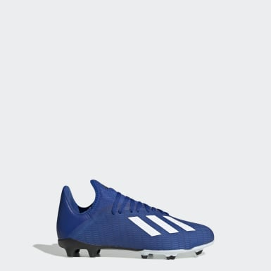 Children Football Blue X 19.3 Firm Ground Boots