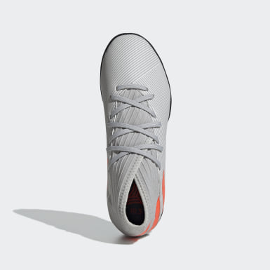 Calzado de Fútbol Nemeziz 19.3 Césped Artificial (UNISEX) Gris Niño Fútbol
