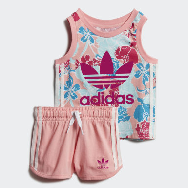 Girls Originals Pink Tank Top Shorts Set