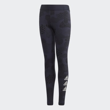 Mädchen Yoga Must Haves Graphic Tight Blau