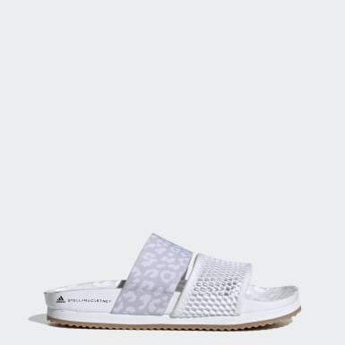 Dames adidas by Stella McCartney Wit Stella-Lette Badslippers