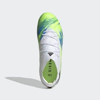 Children Soccer White Nemeziz 19.1 Firm Ground Cleats