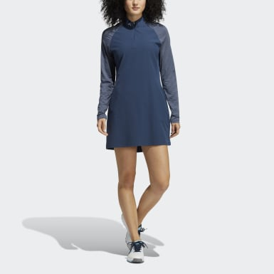 Women's Golf Blue Golf Long Sleeve Dress