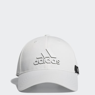 Men Golf White Tape Motif Cap