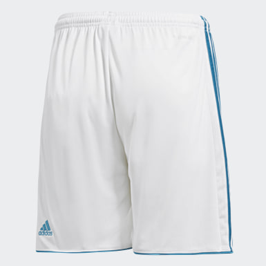Shorts Real Madrid Home Replica Blanco Niño Fútbol