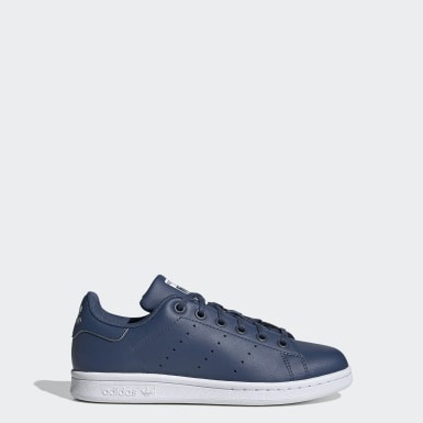 Youth Originals Blue Stan Smith Shoes